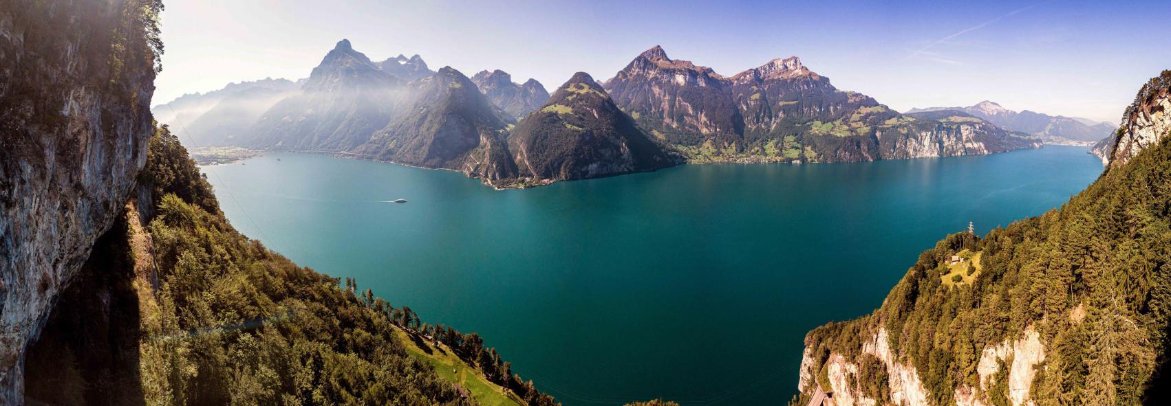 See und Bergpanorama-Bild - Vierwaldstättersee