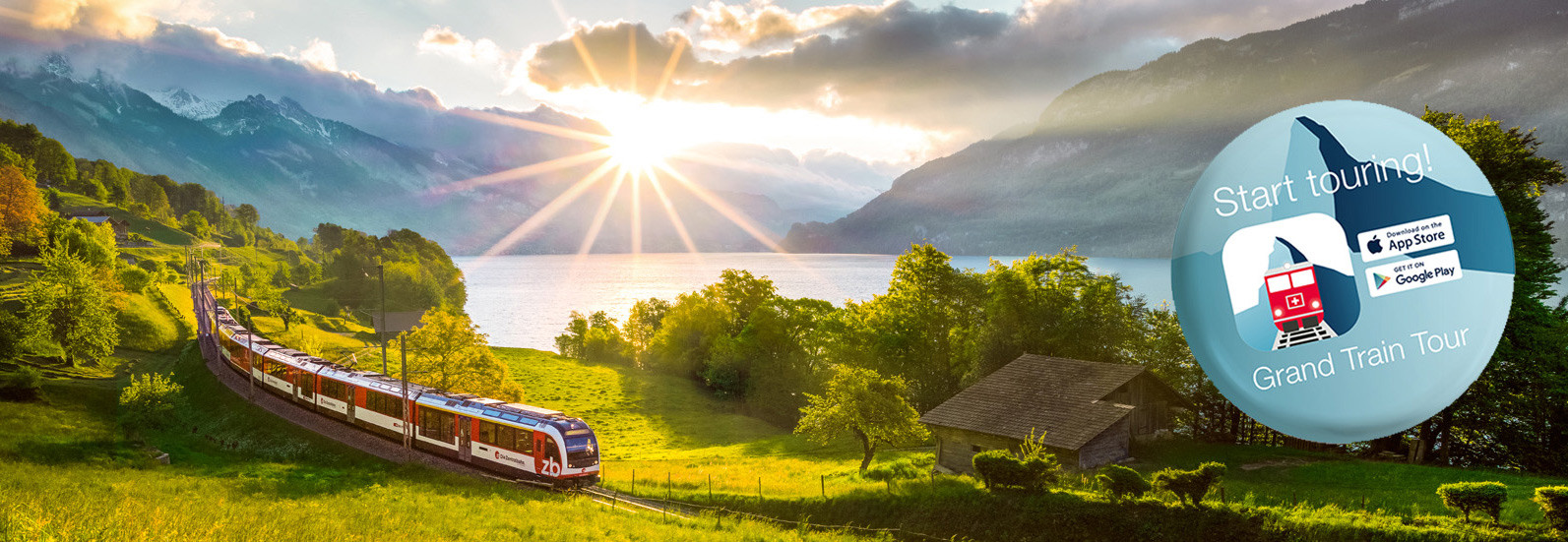 Experience the most beautiful sides of Switzerland by train and boat.