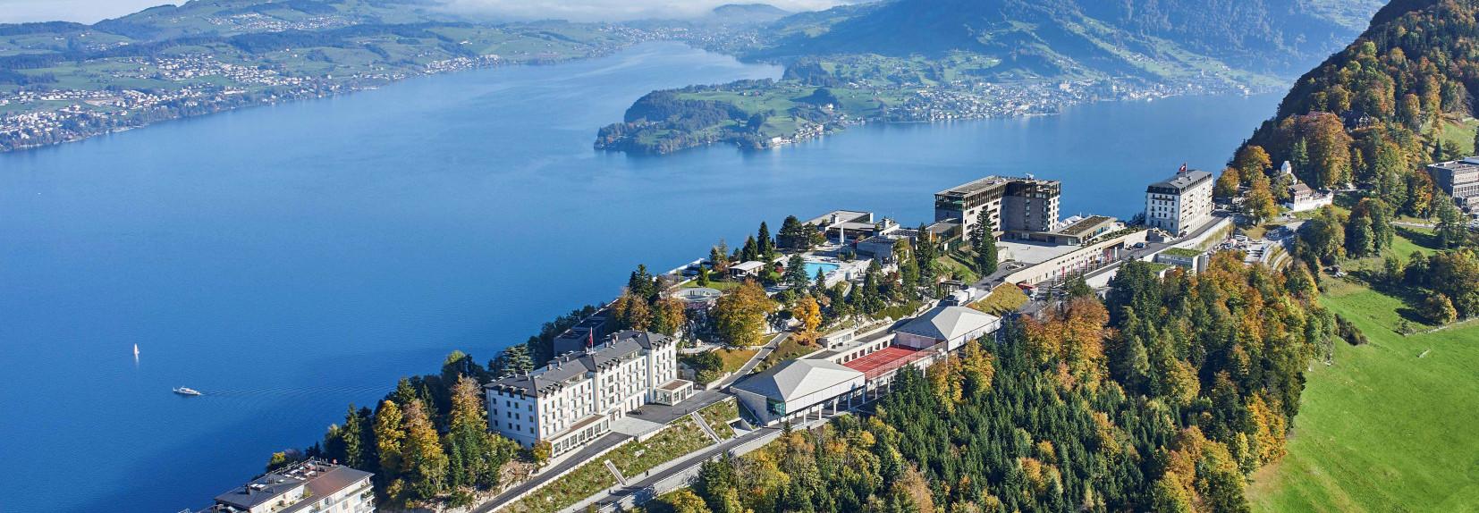 Resort Bürgenstock and Lake Lucerne.